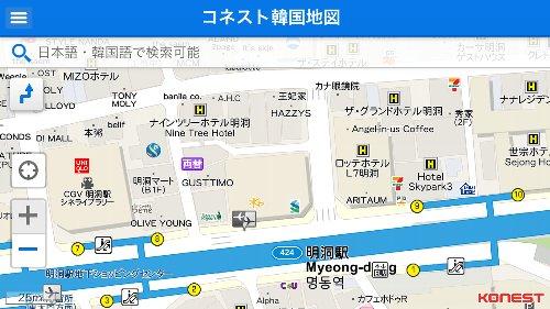 明洞駅周辺地図
