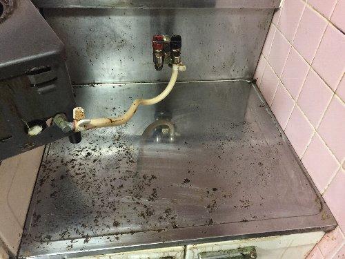 ガスコンロ下掃除3