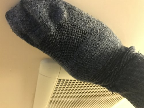 お風呂天井靴下で掃除
