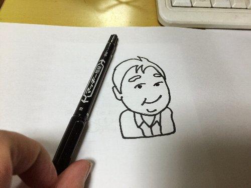 似顔絵を描く
