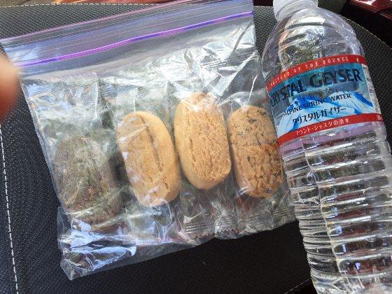 おからクッキー昼飯