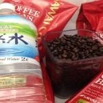 水とコーヒー豆