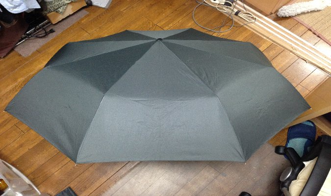 ジャンボ自動開閉折り畳み傘 表