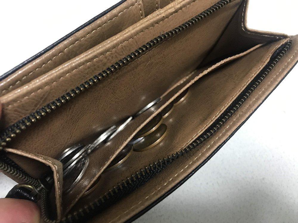 小銭が取りやすい2つ折り財布