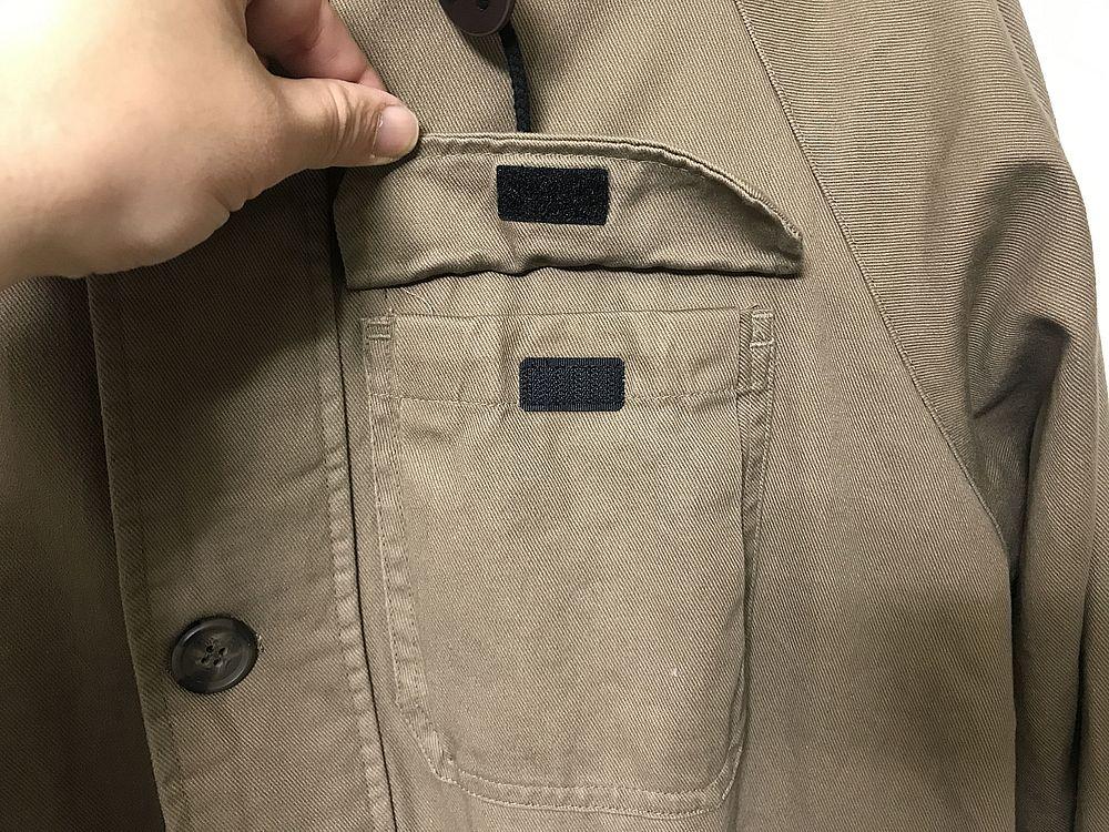 コットンキャンパー胸ポケット