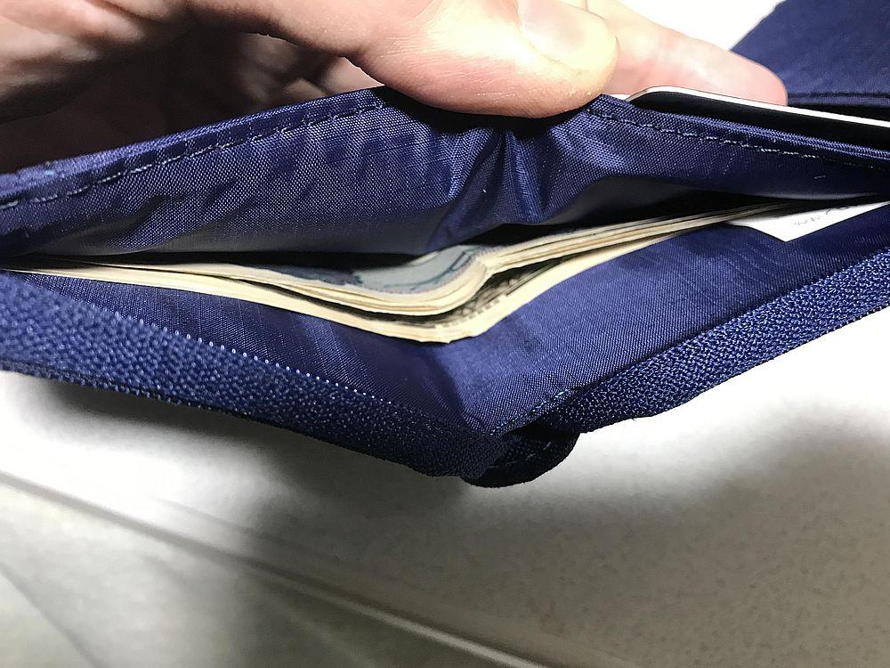CORDURA折りたたみ財布お札