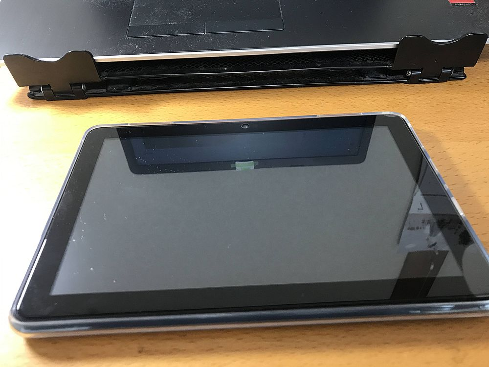 Fire HD 8カバー装着表側