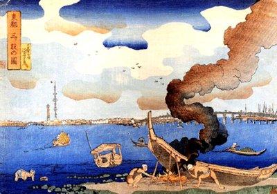 江戸時代に東京スカイツリー?浮世絵師 歌川国芳
